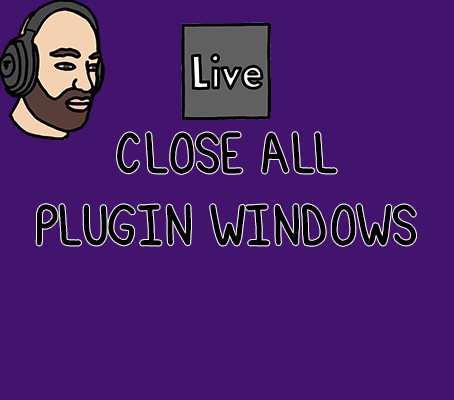 Learn how to close all plugin windows in Ableton